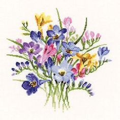 Freesia Posy Cross Stitch Kit VPFP716