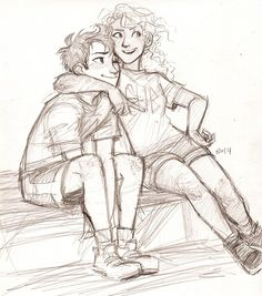 More wonderful art from Burdge-Bug…little Percy and Annabeth are so CUTE!!!!!