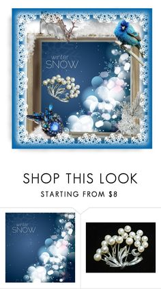 """""""Winter Snow"""" by pattysporcelainetc ❤ liked on Polyvore featuring Mikimoto and vintage"""