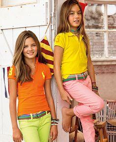 Ralph Lauren Kids Separates, Girls Big Pony Polo and Skinny Pant - Kids Ralph Lauren Girls 7-16 - Macys