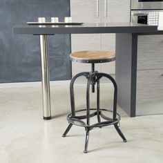 Dempsey Industrial Design Backless Counter/Bar Stool