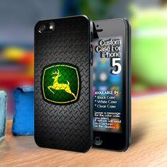 TP690 John Deere Logo on Metal Iphone 5 case