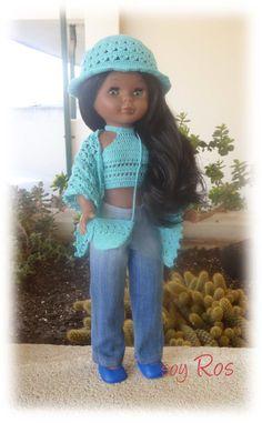 soy Ros: Pepa con conjunto de crochet en azul turquesa