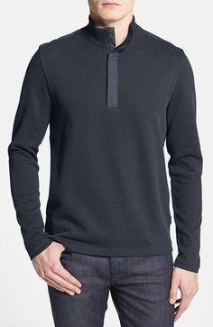 Hugo Boss 'Persano' Men's Quarter Zip Regular Fit Sweater Black XXLarge NWT $175 #HUGOBOSS #Quarterzip