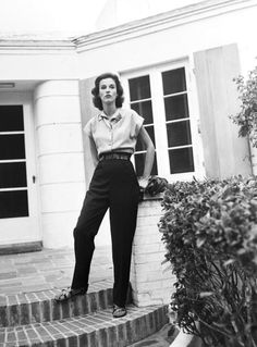 Babe Paley || Mrs. Stanley Grafton Mortimer Jr. (Babe Paley- formerly Barbara Cushing), world's best dressed woman at her home in Hobe Sound, Florida, 1947