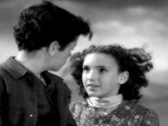 Rex Downing as Young Heathcliff and Sartia Woonton as Young Cathy in Wuthering Heights 1939