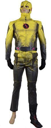 New Hot  Black Zoom Villain Reverse-Flash Cosplay Costume with Mask Halloween