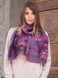 Thai Cotton Silk Art - Violet collage - ETA Aug 15