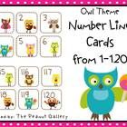 $4.00 These owl theme number cards from 1 to 120 are perfect for math activities including a Common Core number line.