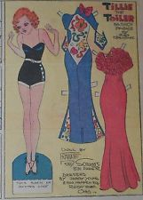 Tillie the Toiler with Uncut Paper Doll from 5/7/1933 Full Size Page!
