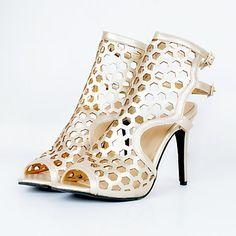 54be4289385cf Femme Chaussures Similicuir Printemps   Eté   Automne Sandales Talon  Aiguille Bout ouvert Cristal Or   Argent   Soirée   Evénement   Soirée    Evénement