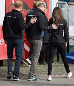 Kate Middleton Photos Photos - Prince Harry, Prince William, Duke of Cambridge and Catherine, Duchess of Cambridge after cheering on runners at the start of the 2017 Virgin Money London Marathon on April 23, 2017 in London, England.  The Royals are spearheading Heads Together, in partnership with eight leading mental health charities, that are tackling stigma, raising awareness, and providing vital help for people with mental health problems. - The Duke