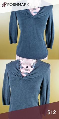 Gray Top Cute dark gray top. Thicker, sweater-like material. Perfect for layering. Excellent condition.   Bust: 14 inches, Sleeves: 17 inches, Length: 22 inches   60% Silk, 20% Nylon, 18% Cotton, 2% Spandex New York & Company Tops