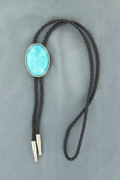 Oval Turquoise Bolo Tie