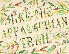 Appalachian Trail Art Print | Hiking Wall Art | Nature Decor | Katie Daisy | 8x10 | 11x14