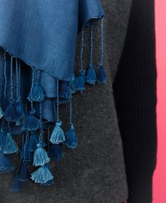 Wild Silk Scarf - Blue // Okka Found