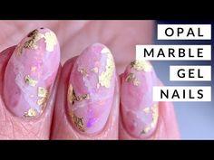 Bio Gel Nails, Opal Nails, Acrylic Nails, Bio Sculpture Gel Nails, Pretty Gel Nails, Nail Techniques, Gel Nail Designs, Nails Design, Marble Nail Art