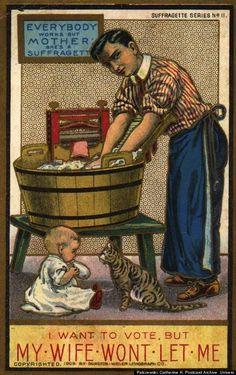 Anti-suffragette postcard.
