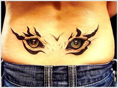 beautiful eyes tattoo on lower back 9 Attractive Lower Back Tattoos For Stylish Beautiful Girls Back Tattoos Spine, Upper Back Tattoos, Spine Tattoos For Women, Back Tattoo Women, Cover Up Tattoos, Sexy Tattoos, Cool Tattoos, Tatoos, Awesome Tattoos