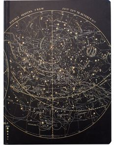 "• • • • • Gift Option • • • • • Add A Gift Bag for $3.95 This Astronomy sketchbook is emblazed with vintage illustrations of the ""Visible Heavens."" Everywhere you look, the sky is spangled with stars"