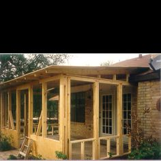 Screened in patio---