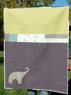 Cute baby quilt/baby blanket. Could also increase size for a bed quilt or coverlet.  Love it!