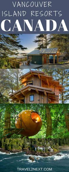10 Vancouver Island resorts in British Columbia, Canada. From spa resorts to wilderness camps, our top Vancouver Island accommodation picks. Ontario, Day Glow, Alberta Canada, Places To Travel, Places To Go, Canada Destinations, Vacation Destinations, Canadian Travel, Canadian Art