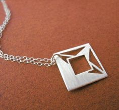 Faceted Princess Square Pendant 199 Carat Series by gemagenta