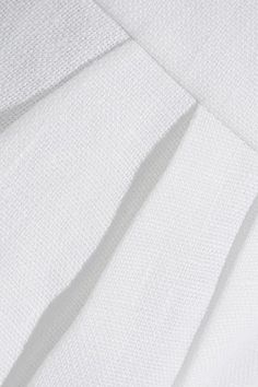 DELPOZO - Linen Tapered Pants - White - FR40