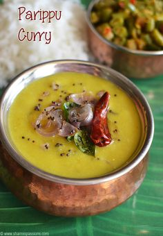 Kerala Parippu Curry Recipe - Onam Sadhya Recipe | Sharmis Passions