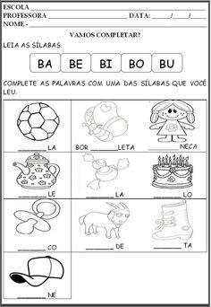 atividade silábica letra A e B