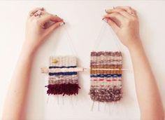 Learn Simple Weaving ~ Use it in Multiple ways ~ Wall Hangings ~ Multi Medium ART ~ Scrap Booking & Card making ~ Use Scrap Yarn Up!