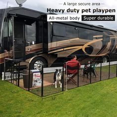 Dog Playpen - Dog Tricks And Tips You Require Today Travel Trailer Camping, Van Camping, Rv Travel, Camping Hacks, Camping Ideas, Camper Life, Rv Life, Palomino, Dog Playpen