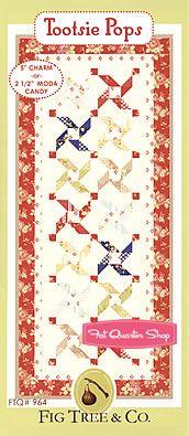 Tootsie Pops Tablerunner Pattern Fig Tree Threads Pattern