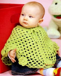 Baby Toddler Wraps Poncho Crochet Patterns by LittleAdorables Crochet Baby Poncho, Baby Girl Crochet, Crochet Baby Clothes, Cute Crochet, Crochet For Kids, Baby Knitting, Knit Crochet, Knitting Wool, Toddler Poncho