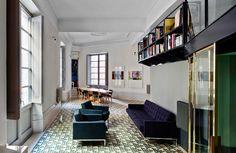 Un intérieur classique aux sols colorés - Frenchy Fancy