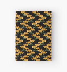 Yellow wildflowers pattern/ Hardcover Journals /  by TsipiLevin