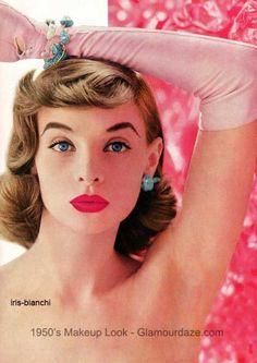 iris-bianchi-1950s-makeup-look -glamourdaze: