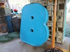 REDUCED Neon Channel Sign Letter 'B' in Balloon / by MerlesVintage, $40.00