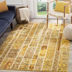 Safavieh Monaco Yellow/ Multi Rug (4' x 5'7) (MNC216K-4), Size 4' x 6'