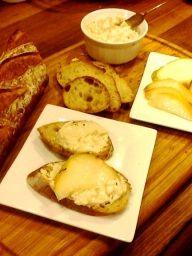 Balsamic-Honey Goat Cheese Dip (replace mayo with greek yogurt)