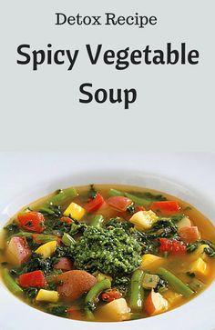 Spicy Vegetable Soup #detox
