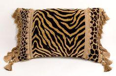 Tiger Print Kidney Pillow