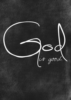 God is Good 5x7 print by joyfulpraisedesigns on Etsy, $20.00