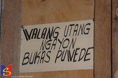 No credit today, tomorrow okay. Funny English Signs, Funny Pinoy, Funny Filipino Pictures, Tagalog jokes, Pinoy Humor pinoy jokes #pinoy #pinay #Philippines #funny #pinoyjoke