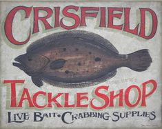 Crisfield Tackle Shop Fishing Print