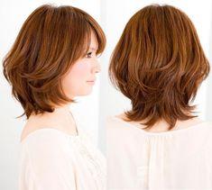 Medium Layered Haircuts, Medium Hair Cuts, Short Hair Cuts, Medium Hair Styles, Curly Hair Styles, Short Shag Hairstyles, Shot Hair Styles, Heart Hair, Japanese Hairstyle