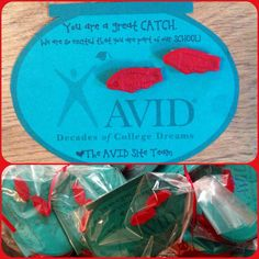 A little welcome note for all the teachers and staff new to our school. #avid #fishpuns