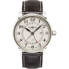 Zeppelin LZ-127 Graf Watch   Beige & Brown Leather