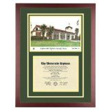 California Polytechnic State University Pomona Diploma Frame with Cal Poly ArtBy Old School Diploma Frame Co.